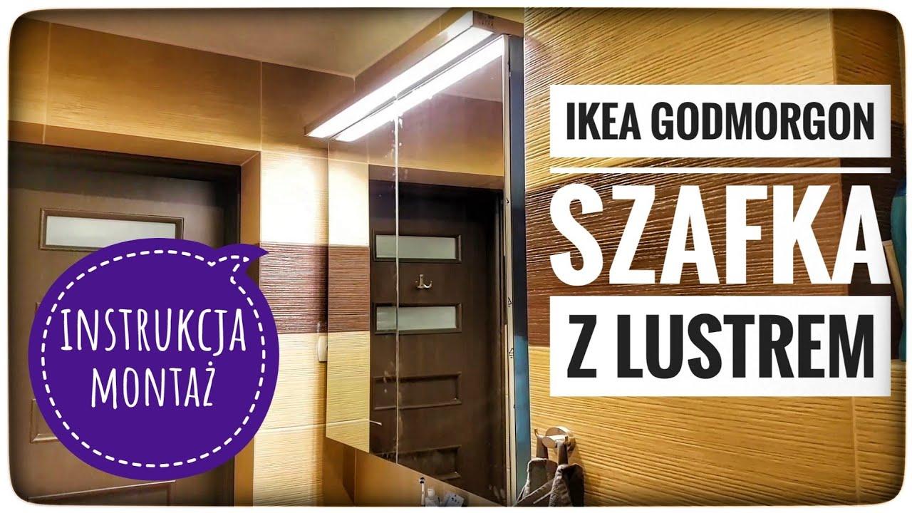 Ikea Godmorgon Szafka Z Lustrem I Parą Drzwi Instrukcja Montaż