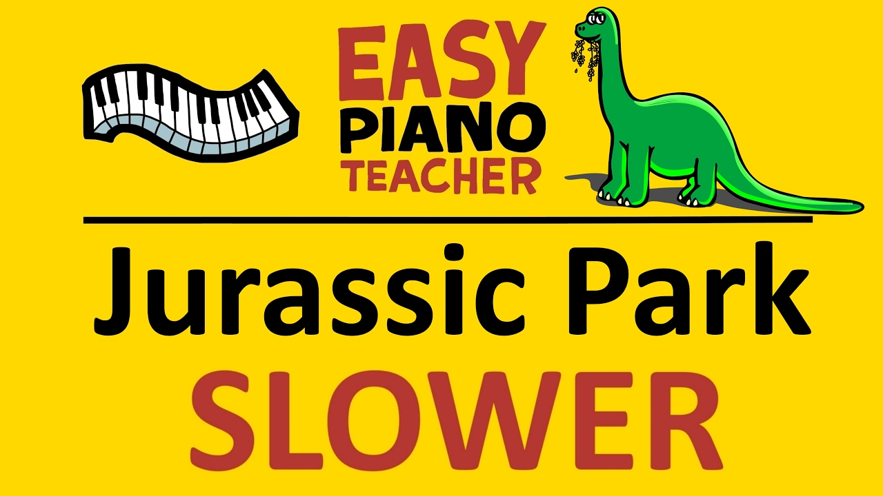 How to play Jurassic Park on piano keyboard (movie theme) SLOW easy  tutorial video from #EPT