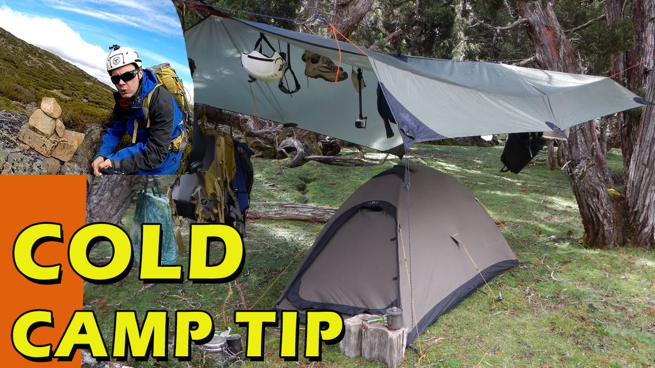 Cheap Winter Camping Tip Keeping Warm Inside Your Tent