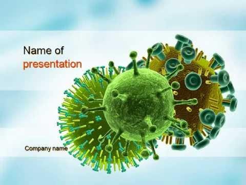 hiv virus powerpoint template youtube