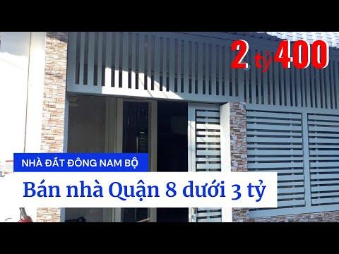 Chính Chủ Bán Nhà Hẻm Xe Hơi 2683 Phạm Thế Hiển Phường 7 Quận 8 Dưới 3 Tỷ. DT 5x11m
