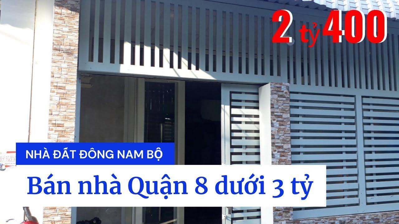 Bán Nhà Quận 8, Hẻm Xe Hơi 2683 Phạm Thế Hiển, P.7, Q.8 Dưới 3 Tỷ. DT 5x11m