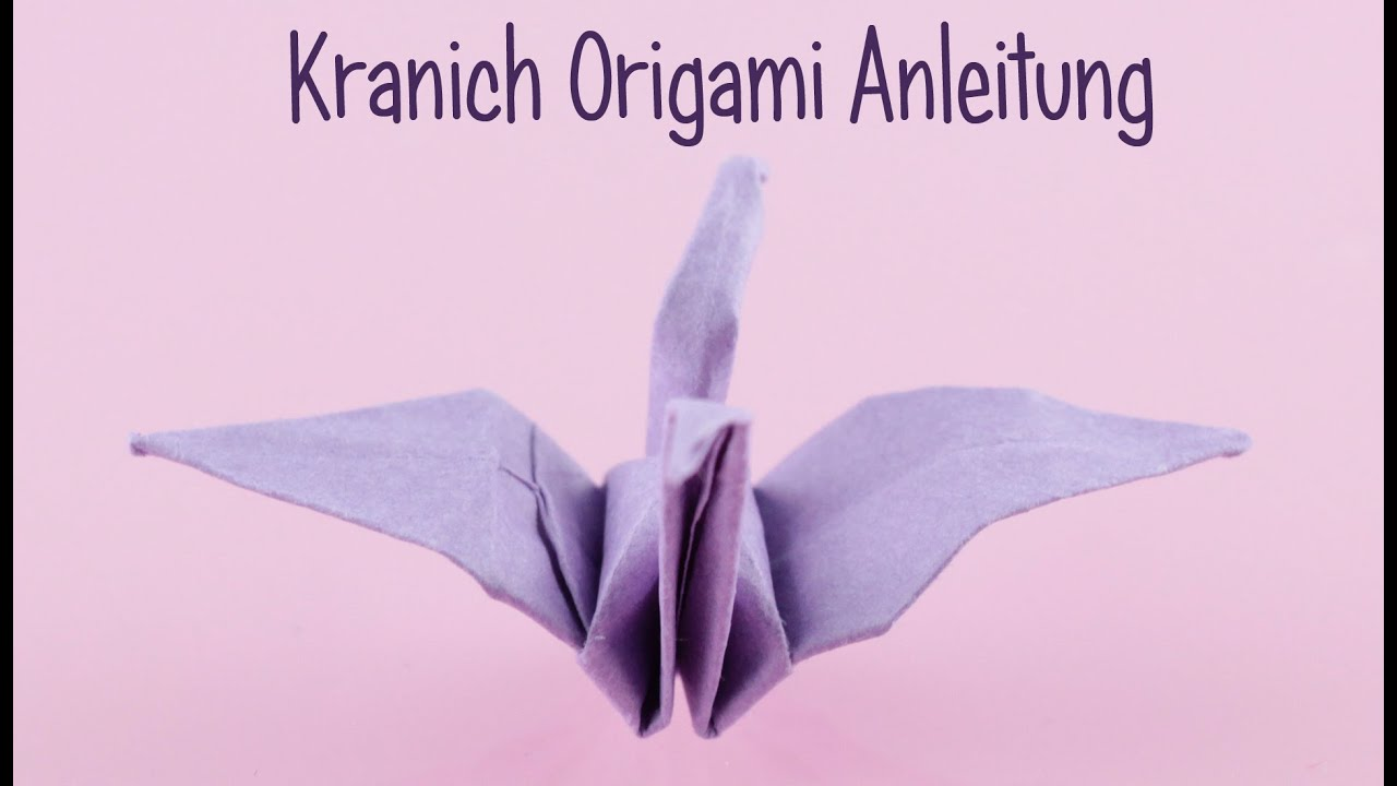 origami kleiner kranich origami anleitung koop mit bastelmania anielas fimo youtube. Black Bedroom Furniture Sets. Home Design Ideas