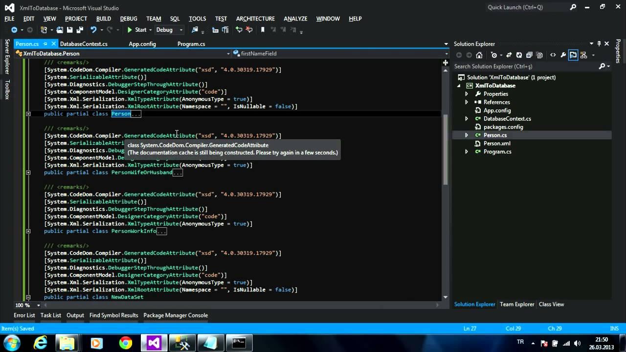XML to Database - Entity Framework Code First