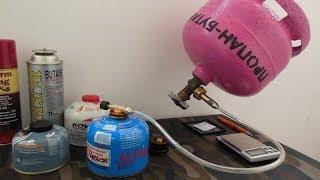 Заправка газовых баллонов (туристических)(При заправке туристических газовых баллонов НИКАКОГО ПЛАМЕНИ или ИСКР поблизости от места заправки (если..., 2013-11-17T17:04:31.000Z)
