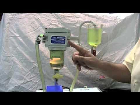Пример работы сепаратора cепар separ 2000 - YouTube