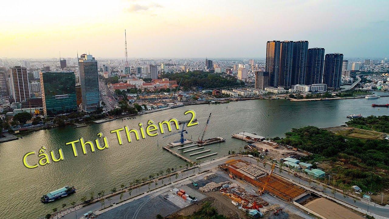 Cầu Thủ Thiêm 2 – Cập nhật tiến độ cuối tháng 3/2019