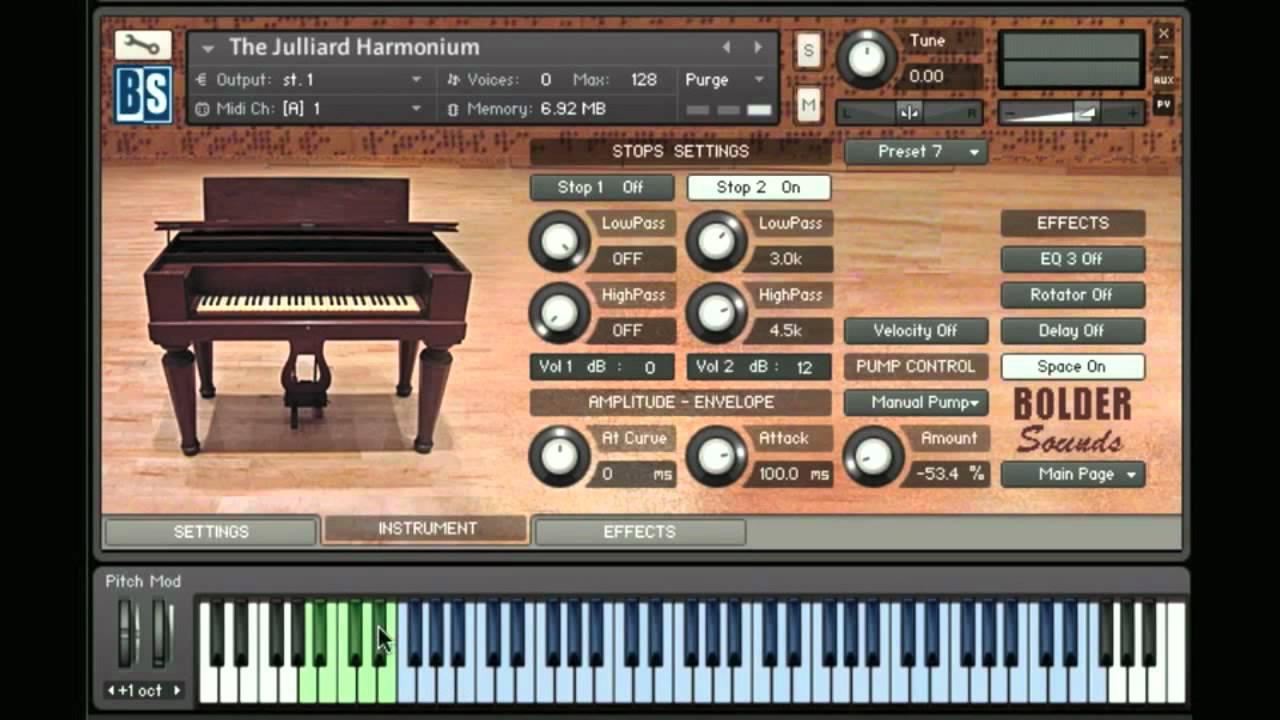 The Juilliard Harmonium sample library from Bolder Sounds