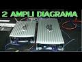 Como conectar 2 amplificadores (conecciones y digrama) de 4 y 1 canales