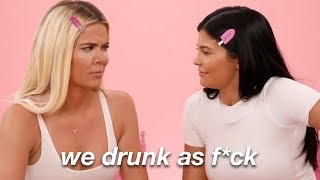 kylie and khloe being extremely drunk for 3 minutes straight