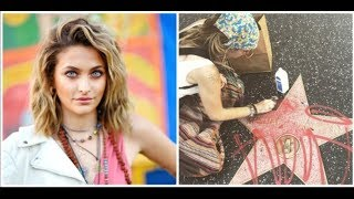 Paris Jackson cleaned up the spray painting from father Michael's Walk Of Fame star