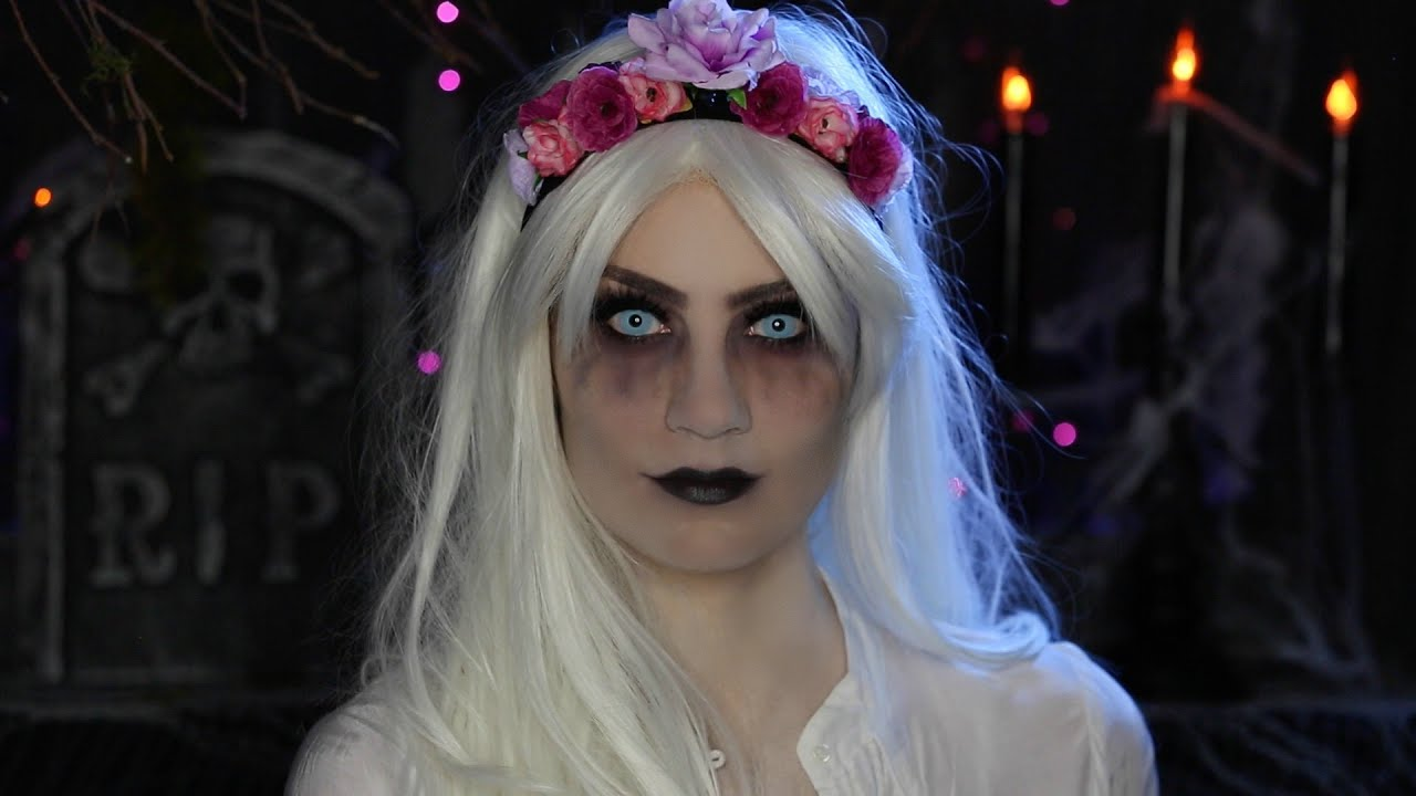 Glam Ghost Halloween Makeup Tutorial - YouTube