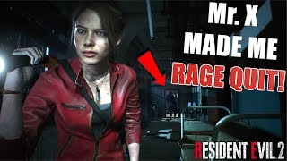 MR. X IS ANNOYING! ( RESIDENT EVIL 2: SECOND RUN) GAMEPLAY WALKTHROUGH #1