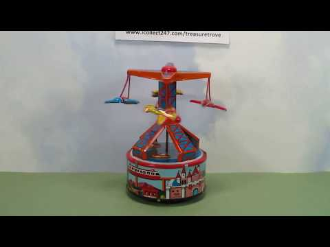 Vacation Land Airplane Ride Windup Toy Japan