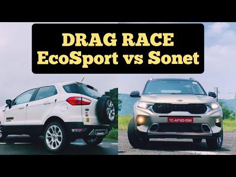DRAG RACE: Sonet vs EcoSport - Ford vs Kia - AutoWheels India (autowheelsind)