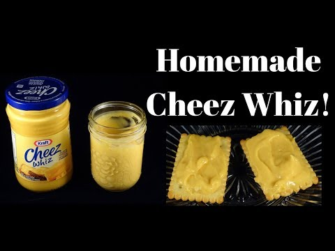 Homemade Cheez Whiz Recipe- Copycat Cheese Spread Recipe