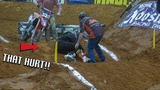 MAJOR CASE AT NITRO ARENACROSS!! | Indoor Dirt Bike Racing