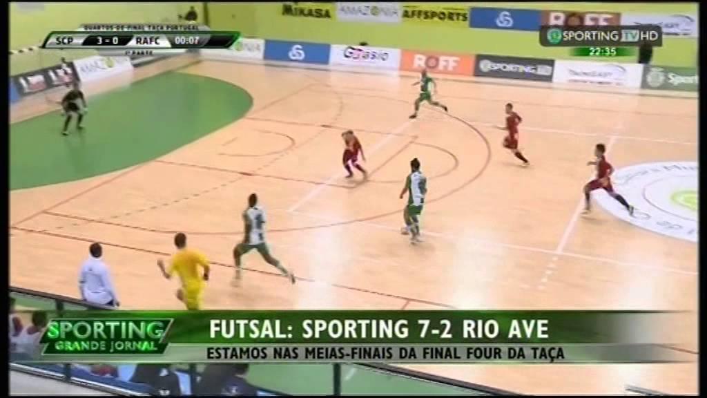 Futsal :: Sporting - 7 x Rio Ave - 2 de 2014/2015 1/4 Final Taça de Portugal