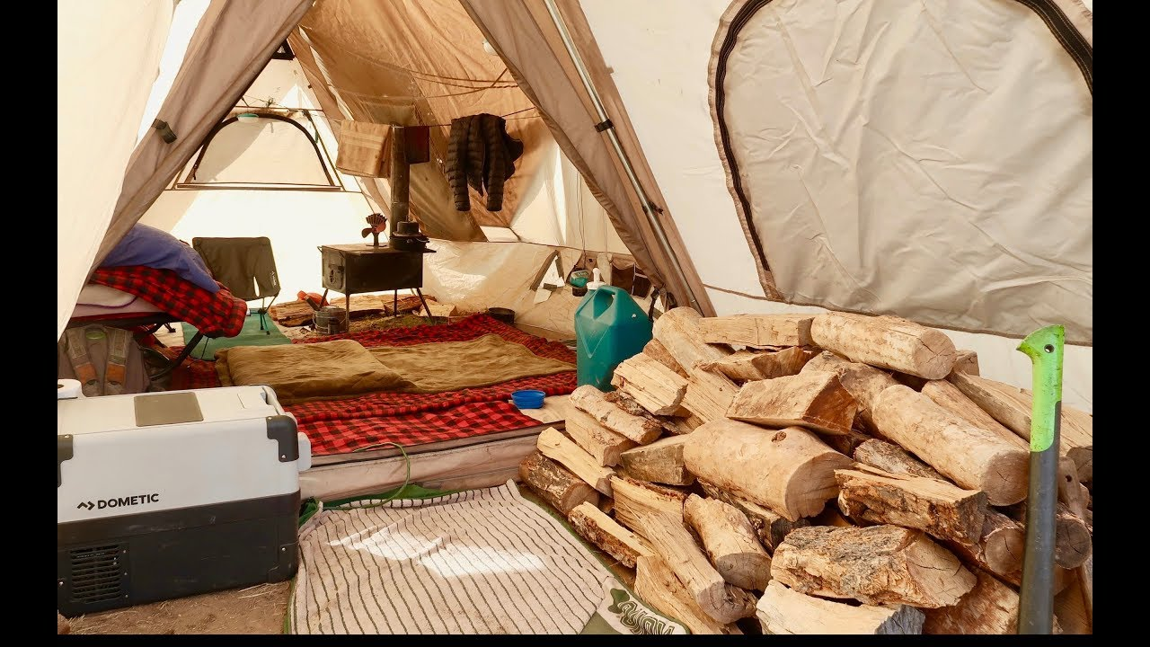 Living Off-Grid in a Tent w/ Wood Stove: New Interior Walk-Through/Layout and I Quit My Summer Job