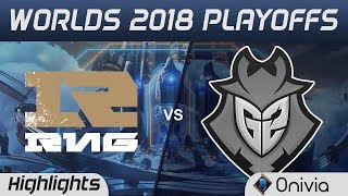 RNG vs G2 Game 1 Highlights Worlds 2018 Playoffs Royal Never Give Up vs G2 Esports by Onivia