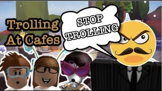 TROLLING AT CAFES w/ KrisPiggy! | Roblox | Its The Gamers