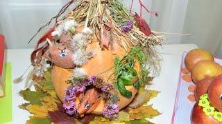 Как сделать теремок из овощей и природного материала Поделки из овощей