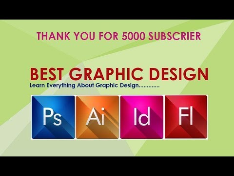 Learn Best Graphic Design In Hindi For Free !! Thank You For 5000 Subscriber