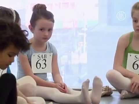 Дети. Балет. Как в США выбирают балерин. Новости