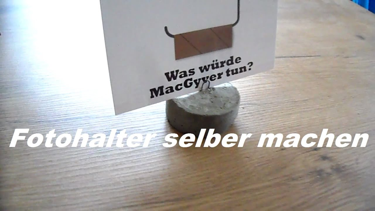 diy fotohalter aus beton selber gie en selber machen so gehts youtube. Black Bedroom Furniture Sets. Home Design Ideas