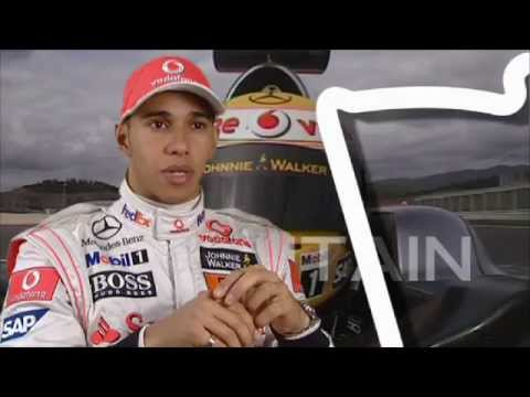 Santander British Grand Prix - A lap of Silverstone with Lewis Hamilton