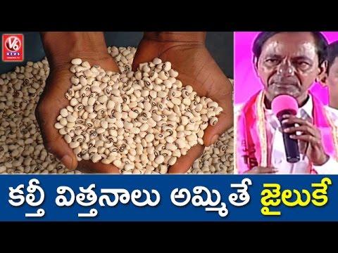 CM KCR Warns Fake Seed Vendors In State | TRS Plenary Meet | V6 News