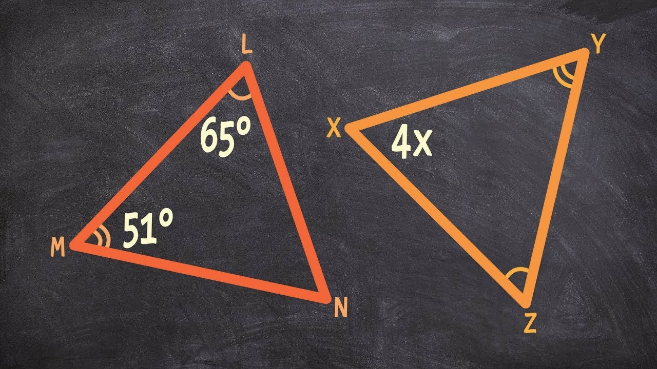 Geometry  Determine The Value Of X Using Third Angle Theorem And Congruent  Triangles