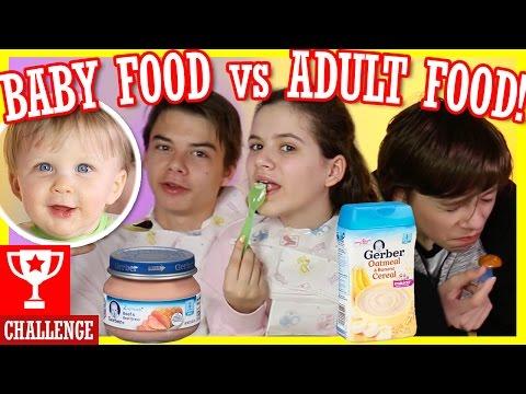 BABY FOOD vs ADULT FOOD CHALLENGE! WITH MICAH!  | TASTE TEST CHALLENGE!  |  KITTIESMAMA