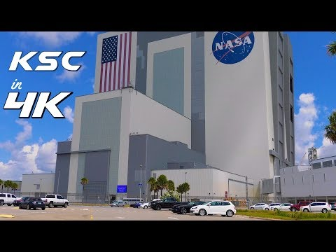 4K: Exploring NASA's Kennedy Space Center - VAB & other buildings  - part 1