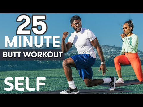 25-Minute Butt Workout | Sweat with SELF | SELF