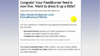 WordPress Tutorial - 18 Use Feedburner To Syndicate Your Wordpress RSS Feed
