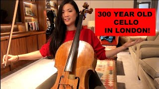 Trying 300 Year Old Cello & Jacqueline Du Pre's bow in London!