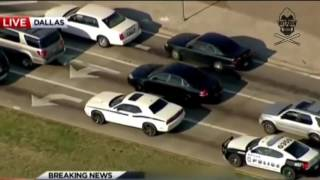 Texas Police Chase Dodge Challenger - Pursuit Ends in Crash.mp4