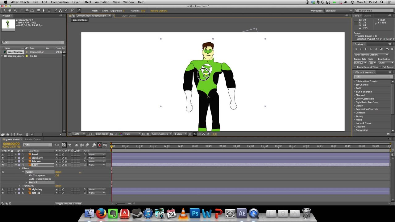 Character Design Animation Toolkit : D animation in adobe after effects cs youtube