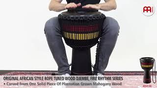 "MEINL Percussion - ORIGINAL AFRICAN STYLE ROPE TUNED WOOD DJEMBE, 13"" - FIRE RHYTHM SERIES - ADJ7-XL"