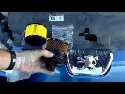 Peugeot 407: cambio filtro gasoil burbujas de aire antes y despues