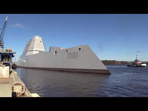 Destroyer Michael Monsoor (DDG 1001) sea trials - BIW