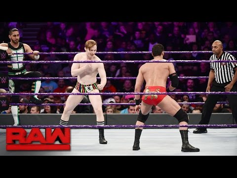 TJ Perkins, Mustafa Ali & Jack Gallagher vs Ariya Daivari, Tony Nese & Drew Gulak: Raw, Jan 23, 2017
