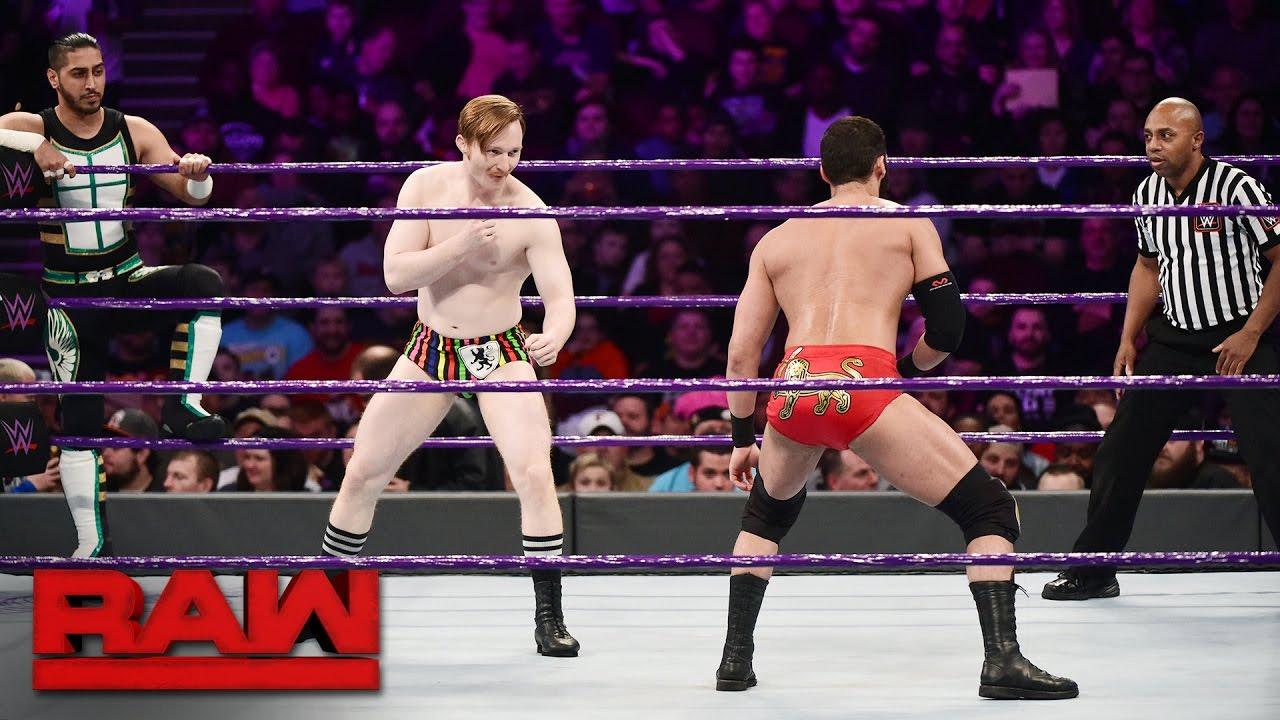 Download TJ Perkins, Mustafa Ali & Jack Gallagher vs Ariya Daivari, Tony Nese & Drew Gulak: Raw, Jan 23, 2017