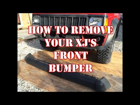 JEEP XJ FRONT BUMPER REMOVAL ..With extra content.