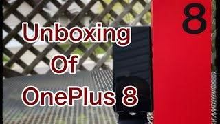 Unboxing of the OnePlus 8