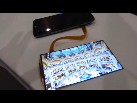 LG G Flex flexible display in the raw