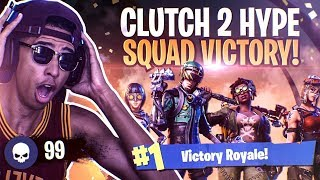 *INSANE* CLUTCH 2HYPE SQUAD VICTORY! I LEFT THEM TO WIN THE GAME! Fortnite Battle Royale