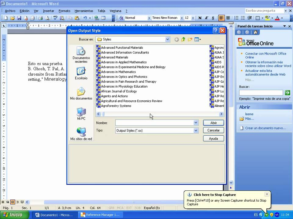 Output Style Reference Manager 12