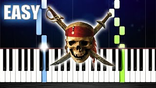 Pirates of the Caribbean - The Black Pearl - EASY Piano Tutorial by PlutaX